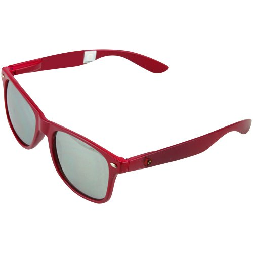 (NCAA Louisville Cardinals LOU-1 Red Frame, Silver Lens Sunglasses, One Size, Red)