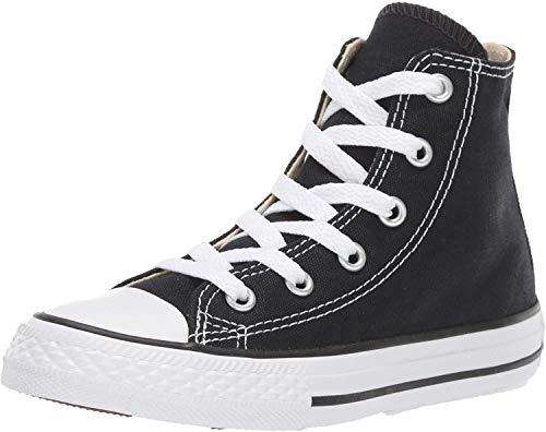 Converse Kid's Chuck Taylor All Star High Top Shoe, Black, 1 Little Kid (4-8 Years) (Top Converse High Kids White)