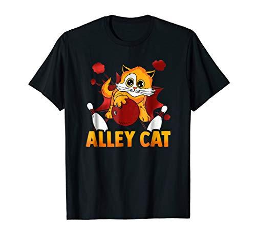 Retro Bowling Team Shirts - Alley Cat Graphic Tee Shirt Bowl