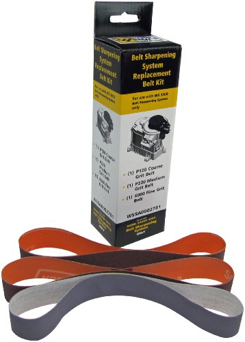 Work Sharp WS3000 Belt Sharpening System Replacement Belt Kit (WS3000 Only)