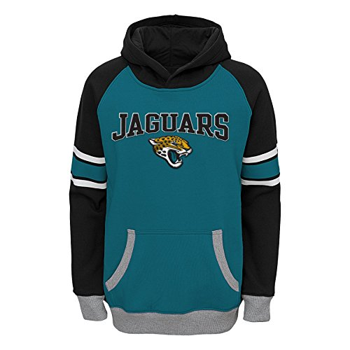 Outerstuff NFL Jacksonville Jaguars Boys Robust Pullover Hoodie, Jag Teal, Small (8)