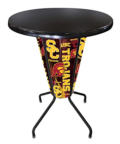 Lighted Outdoor Stool Table - 4