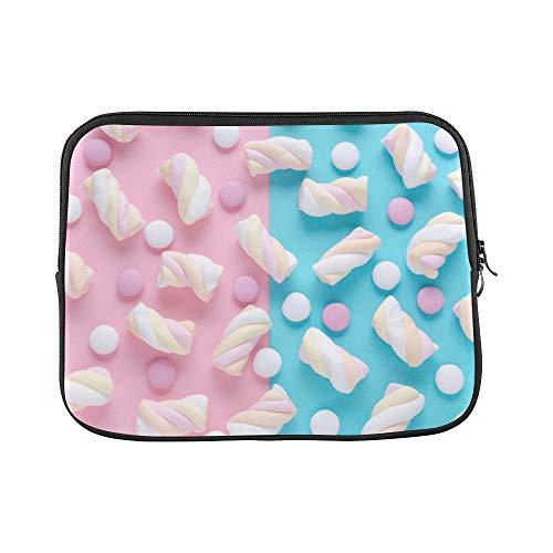Design Custom Marshmallow Colored Sweet Girl Heart Candy Sleeve Soft Laptop Case Bag Pouch Skin for MacBook Air 11