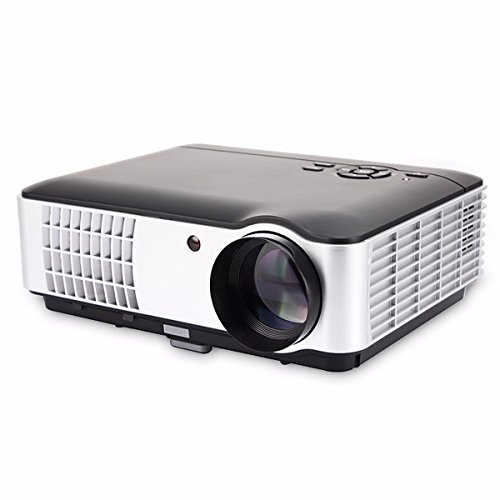 2800 Lumens Video Projector, ELEGIANT LED Multimedia Projector Built-in Speaker, Support 1080P AV/HDMI/USB/VGA/ATV, Compatible with Home Cinema Theater TV Laptop Game iPad iPhone Android Smartphone