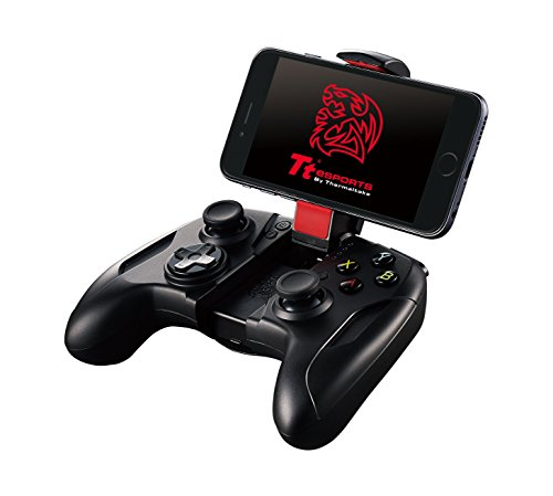 Tt eSPORTS Contour Wireless Mobile Gaming Controller for iPhone 6S/6/6 Plus/5/5C/iPad/Air/Pro (MG-BLK-APBBBK-CA)