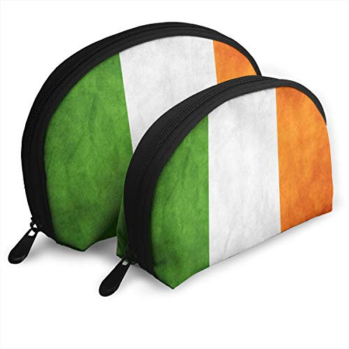 Flag Of Ireland Storage Bag Toiletry Bag Multifunction Portable Travel Bags Small Makeup Clutch Pouch With Zipper -