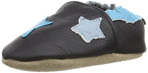 Freefisher Lauflernschuhe, Krabbelschuhe, Babyschuhe - in vielen Designs (6-12 Monate, Sterne Blau)