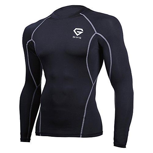 (グロング)GronG コンプレッションウェア アンダーシャツ スポーツシャツ メンズ 長袖 ラウンドネック UVカット UPF50+の商品画像