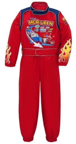 Disney Store Cars 2 Lightning McQueen Costume Light Up Racing Suit -