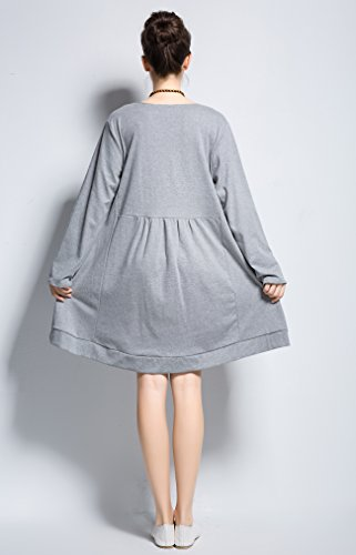 Spring Clothing Buttons Coconut Size Gray Dress Plus Linen amp;cotton Y131 Fall Anysize Light Shell qvZXxFF