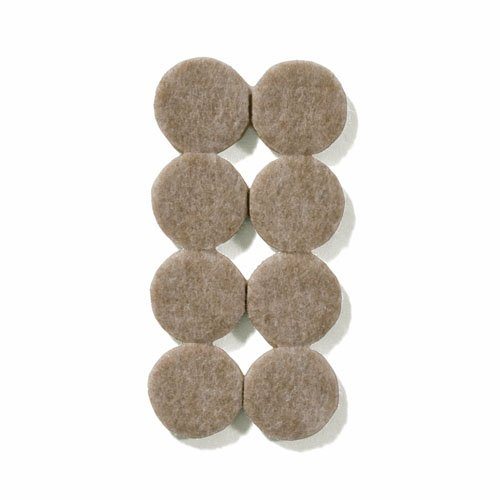 "1"" Diameter Heavy Duty Felt Pads - 8 Pcs"