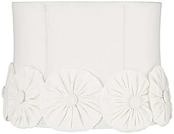Brussels White Flower Drum Shade 12x13x9.5 (Spider)