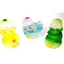 Frosted Colored Hear No Evil See No Evil Speak No Evil Buddhas