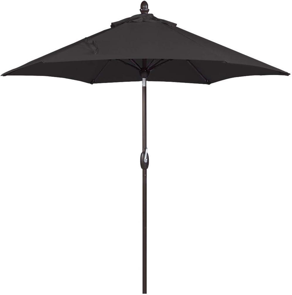 SORARA Patio Umbrella Outdoor Market Table Umbrella with Push Button Tilt Crank Umbrella Cover, 9 Feet, Black