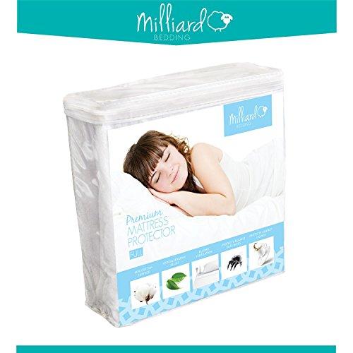 Milliard Premium Terry Hypoallergenic 100-Percent Waterproof Mattress Protector, Full (Waterproof Mattress Cover Full)