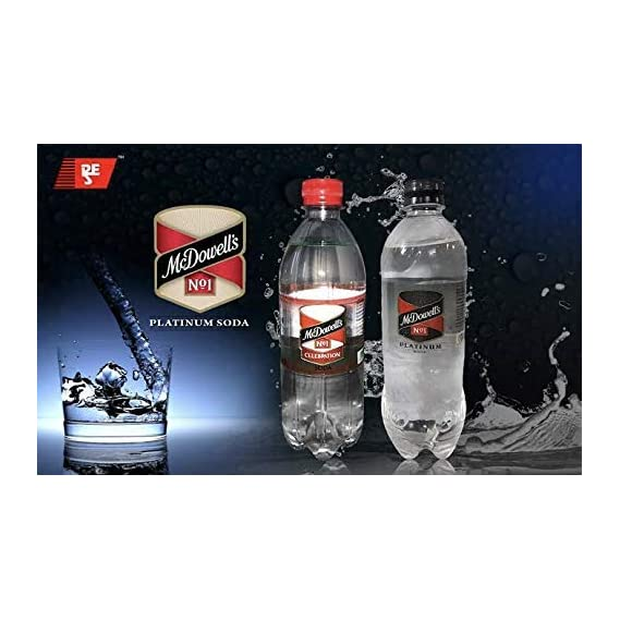 McDowell's No1 Platinum Soda 750 ML | Pack of 20 Bottles ( Premium Carbonated Water/Sparkling Water) Price Including