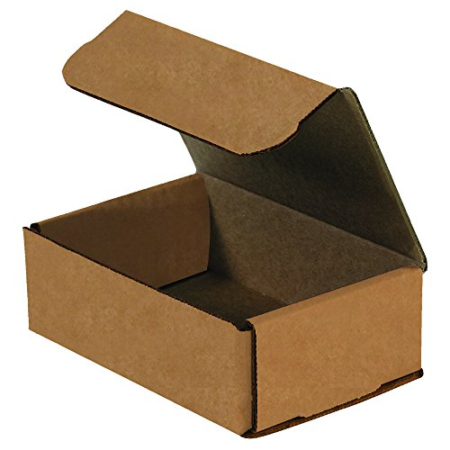 Boxes Fast BFMRX5XK Corrugated Cardboard Mailers, 6 1/2 x 4 1/2 x 2 1/2 Inches, Tuck Top One-Piece, Die-Cut Shipping Cartons, Small Brown Kraft Mailing Boxes (Pack of 50)