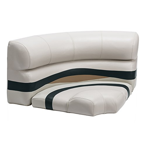 Wise Premier Series Pontoon 32-Inch Bow Radius Corner Seat, Cushions Only, Platinum/Platinum Punch/Jade/Fawn