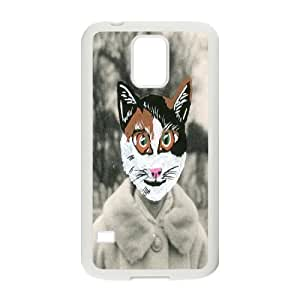 Personality customization Cross Eyed Cat Design Top Quality DIY Hard Case Cover for SamSung Galaxy S5 I9600, Cross Eyed Cat Galaxy S5 I9600 Phone Case At LINtt Cases