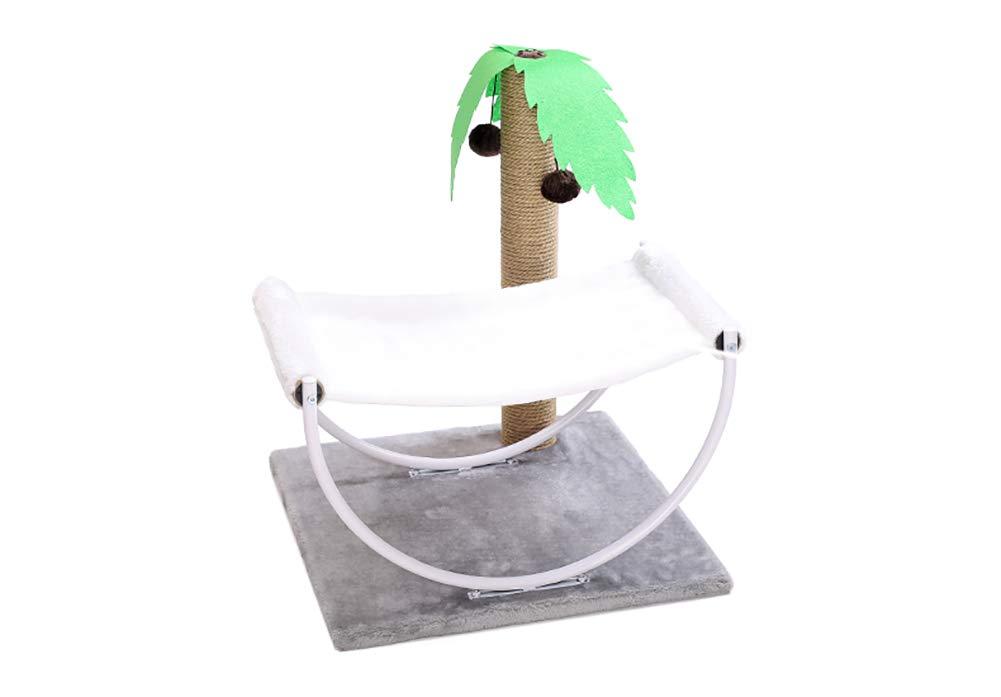Cat Tree Cat Hammock Scratch Column Summer Tropical Style Cat Cat Indoor Lounge Play Scratch Pet Toy
