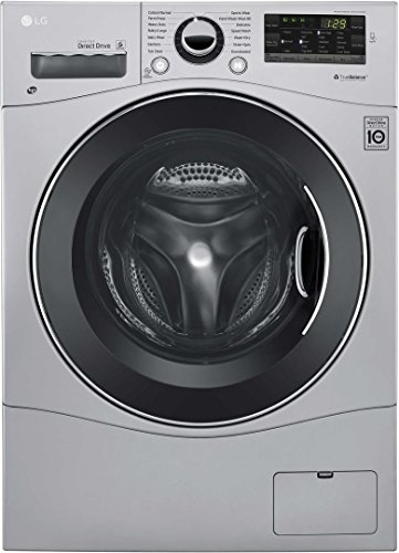 """LG WM3488HS 24"""" Washer/Dryer Combo with 2.3 cu. ft. Capacity, Stainless Steel Drum in Stainless Steel"""