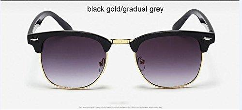 Negro espejo alta de hombre calidad de sol clásico 3016 Remache gafas metal gris de sol de Negro de Gafas de medio Moda Oro Oro Oro 3016 ZHANGYUSEN SnTqZvw