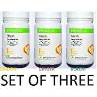 Herbalife Afresh Energy Drink Mix, 50 g (Lemon, Ginger, Elaichi Flavor)-Combo Pack of 3
