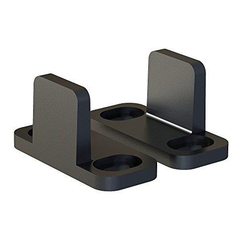 Black Bypass Sliding Barn Door Hardware Replacement Floor Guide Set of 2 ()