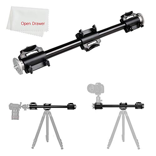 Tripod Arm Boom - Aluminum 3/8 Screw Support Tripod Arm Rock Solid Cross Bar Side Arm for 4 Heads Head Professional Photography Studio Fixtures