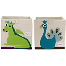 3 Sprouts Storage Box, Dragon, Green and Peacock Blue
