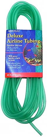 Penn-Plax Deluxe Silicone Flexible Airline Tubing for Aquariums, 3/16-Inch, 20 Feet