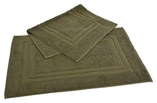 Homestead Textiles Growers Collection 100-Percent Zero-Twist Pima Cotton 2-Piece Bath Mat Set, Moss Green
