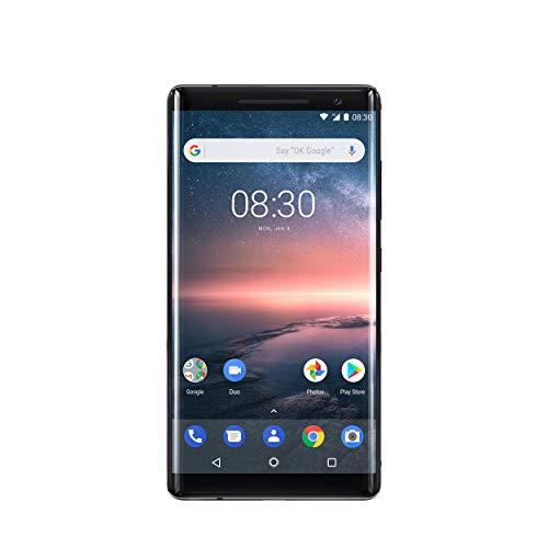 Nokia 8 Sirocco Single-SIM 128GB TA-1005 (GSM only, No CDMA) Factory Unlocked 4G Smartphone (Black) - International Version