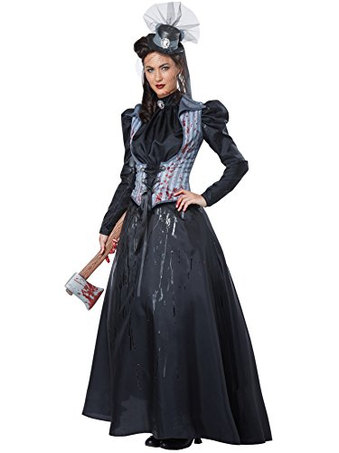 [California Costumes Women's Lizzie Borden/Axe Murderess, Black/Gray, Small] (Mary Adult Womens Plus Size Costumes)