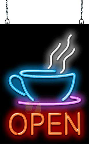 Coffee Cup Neon OPEN Sign ()
