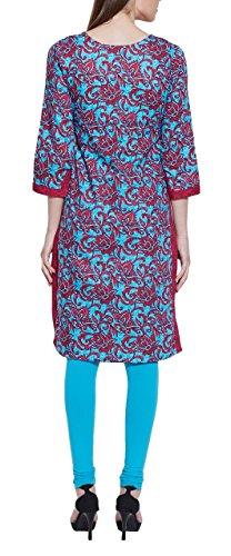Manches longues à encolure en V robe de soie imprimée en coton - unique mode féminine