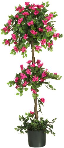Nearly Natural 5228 Mini Bougainvillea Topiary Beauty, - Horse Topiary