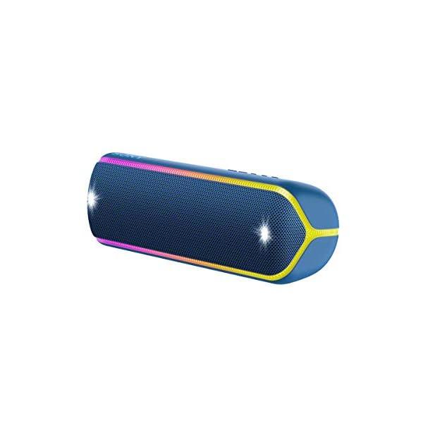 Sony SRS-XB32 Enceinte Portable Bluetooth Extra Bass Waterproof avec Lumières - Bleu 1