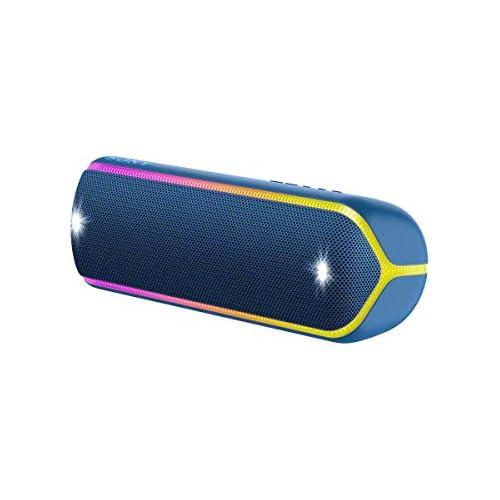 chollos oferta descuentos barato Sony SRS XB32L Altavoz inalámbrico portátil Bluetooth Extra Bass diseño portátil batería hasta 12h Sonido Live Sound Party Booster Luces Resistente al Agua y Polvo IP67 Azul