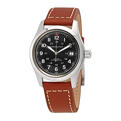 - Hamilton Men's HML-H70455533 Khaki Field Black Dial Watch