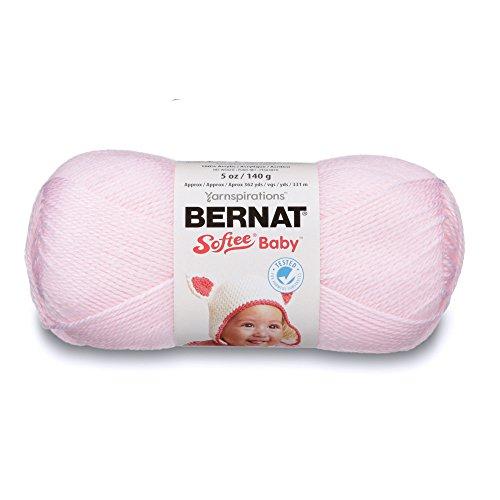 Bernat Baby Yarn - Bernat  16603002001 Softee Baby Solid Yarn - (3) Light Gauge 100% Acrylic - 5oz  -  Pink  -  Machine Wash & Dry