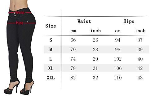 mujer grande AUSERO Jeans para Negro Vaqueros xSxUnq4