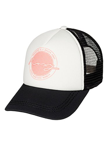 Roxy Juniors Truckin Trucker Hat, Pristine, One Size