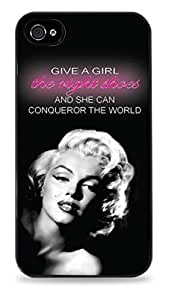 Marilyn Monroe Give A Girl The Right Shoes Black Hardshell Case for iPhone 6 Plus (5.5 inch) i6+