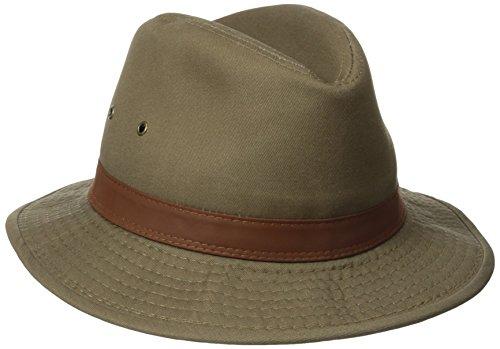 Dorfman Pacific Men's Washed Twill Safari Hat, Bark, X-Large from Dorfman Pacific