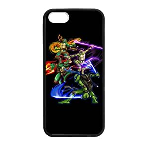 Customized iPhone Case Teenage Mutant Ninja Turtle Printed Laser Rubber iPhone 5 5S Case Cover