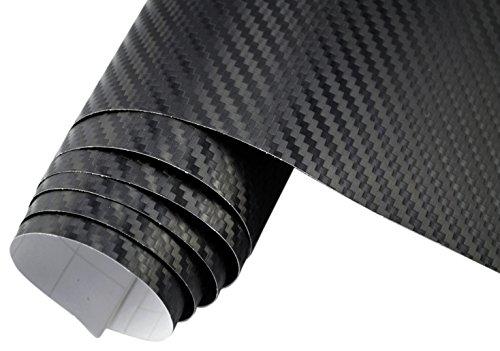 Teckwrap 3D Carbon Fiber Vinyl Film Wrap Black 120 x 60