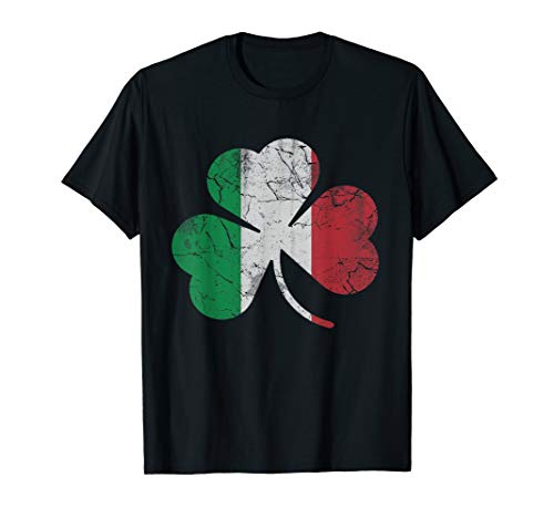 Irish Italian Flag Shamrock T-Shirt St Patrick's Day Italy (Irish Italian St Patricks Day T Shirts)