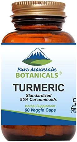 Turmeric Capsules with Black Pepper Extract 60 Kosher Vegan Caps 450mg Turmeric Root