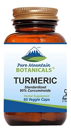 Turmeric Capsules with Black Pepper Extract 60 Kosher Vegan Caps 450mg Turmeric Root – Natures Curcumin Supplement For Sale